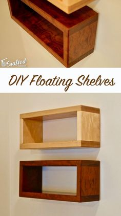 How to build a DIY floating shelf, which can be built with only a circular saw, drill, and doweling jig. This easy-to-build project looks awesome and can be sized to fit your space.