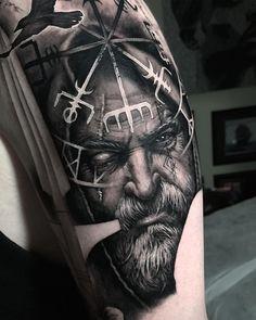 Slavic and Scandinavian tattoos Realistic Tattoo Sleeve, Viking Tattoo Sleeve, Viking Tattoo Symbol, Norse Tattoo, Best Sleeve Tattoos, Celtic Tattoos, 3d Tattoos, Tattoo Ink, Viking Tattoos For Men