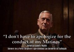 Sorry, Sir, but this week you do. Then you need to crack a few skulls as an example. General Mad Dog Mattis, this is what a real leader looks and sounds like America. Military Quotes, Military Humor, Military Life, Usmc Quotes, Military Spouse, Military History, Quotes Quotes, Life Quotes, General James Mattis