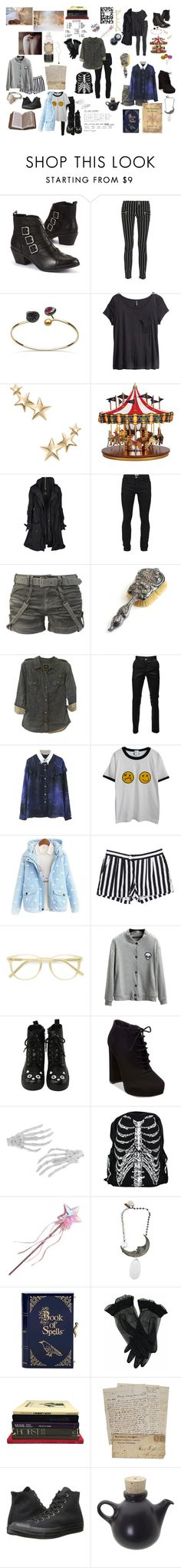 """""""Untitled #135"""" by elliotchasesthestars ❤ liked on Polyvore featuring Balmain, H&M, Kenneth Jay Lane, Mr. Christmas, AllSaints, Acne Studios, CO, Rails, Chicnova Fashion and Ace"""