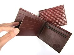 BROWN AND WOVEN  a small sized wallet for by AmielLeatherDesign, $45.00