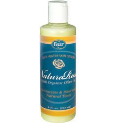 NaturaRose, Rose Water Skin Lotion helps reduce the effects of dryness and aging with a natural blend of nourishing oils.This luxurious formula's creamy texture penetrates quickly to hydrate and moisturize your entire body without clogging pores. Excellent for the body or face or even add to your bath water to pamper yourself. For men, it makes a great after-shave. Prized for its astringent and toning properties, Bulgarian Rose Water is added to improve the skin's texture and complexion.