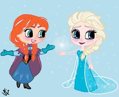 Drawing of Elsa and Anna from Disney's Frozen. (Drawing of David Gilson used as refrence). By Yenthe J.