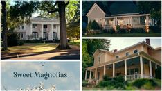 """""""Sweet Magnolias:"""" The Houses in the Small Southern Town of Serenity - Hooked on Houses Netflix Home, Sweet Magnolia, Three Friends, Just Friends, Southern Farmhouse, Farmhouse Style, Magnolia Homes, Netflix Series, Filming Locations"""