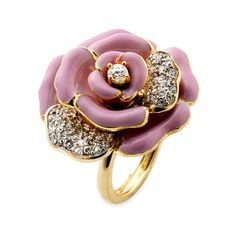 Juicy Couture Pave Flower Ring (Nordstrom Exclusive) (With images) Chanel Jewelry, Jewelry Box, Jewelry Rings, Jewelry Accessories, Fashion Accessories, Fine Jewelry, Jewelry Design, Fashion Jewelry, Purple Jewelry