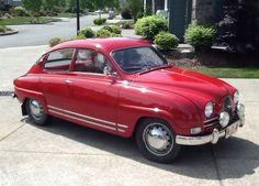 1963 Saab 850GT much like my first car - a red 1968