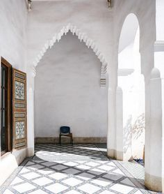 Gorgeous tiles and dramatic archways in Morocco.