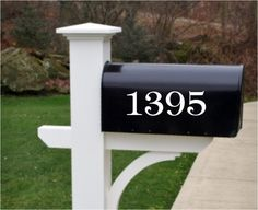 """A great way to add some style to your home. Our outdoor vinyls are great for Mailboxes, Doors, Trashcans and More.   Size is approx. 3""""H and a maximum of 12"""" wide. Depending on your address. Mailbox Numbers 3"""" -  Set of 2,  House Numbers address by StoneEffectsMD, $10.95"""
