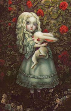 Ilustración de Benjamin Lacombe para 'Alicia en el País de las Maravillas'