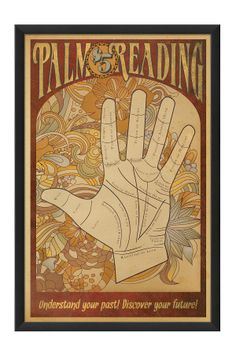 EB Palm Reading Poster Custom Framed Wall Art