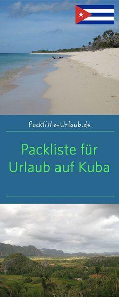 Kostenlose Packliste für Urlaub auf Kuba  Packliste-Urlaub.de Cuba Travel, Holidays And Events, Vietnam, Road Trip, Hotels, Around The Worlds, Beach, Water, Outdoor