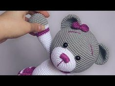40 Cute Animal and Cartoon Character Amigurumi Crochet Patterns For Your Baby Part amigurumi crochet patterns; Crochet Pretty Bunny Amigurumi In Dress – Free Pattern - 63 Free Crochet Bunny Amigurumi Patterns - DIY & Crafts Amigurumi crochet doll patter Crochet Kids Scarf, Crochet Doll Dress, Crochet Bear, Crochet Gifts, Crochet For Kids, Diy Crochet, Animal Knitting Patterns, Crochet Toys Patterns, Stuffed Toys Patterns