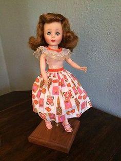 Gorgeous-Hair-American-Character-10-Toni-Vinyl-1958-Lovely-Doll-Dress-Heels