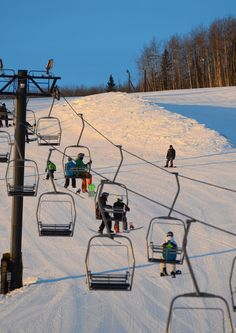 Snowboard and sking at Birch Hill Ski and Snowboard Area.
