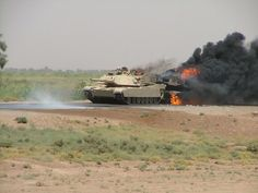 Here is what happened. One tank broke down and the other towed it. M1s have turbine engines which run hot. When towing an M1 with another M1 the crews are supposed to employ a blast deflector. They did not. This occurred in Iraq and the ambient temp was over 120 degrees F.
