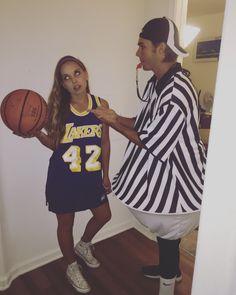 2242cf0fca61 Referee and a basketball player DIY costume ♡ daniellebonita ♡