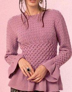 Интересный пуловер спицами. Идея для вязания.. Обсуждение на LiveInternet - Российский Сервис Онлайн-Дневников