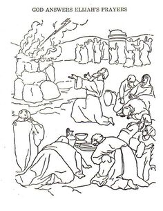 Elijah God Anwer Prayers Coloring Pages PagesFull Size