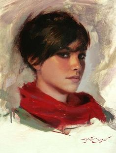 """Oil Painting; Casey Baugh's """"Red Scarf"""" - step by step tutorial"""