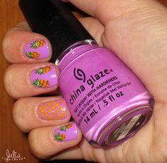 Nails Art piña / Mes de la fruta