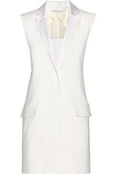 Victoria, Victoria Beckham Oversized crepe vest | THE OUTNET