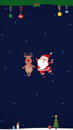 Noel Illustration - Welcome OyunRet Christmas Phone Wallpaper, Winter Wallpaper, Holiday Wallpaper, Holiday Backgrounds, Christmas Drawing, Christmas Love, Christmas Pictures, Wallpaper Natal, Wallpaper S
