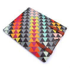 Leather iPad case - Geometric Triangles £65.00