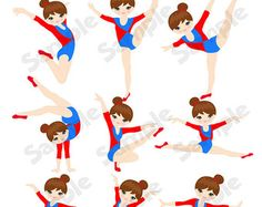 Popular items for gymnastics clipart on Etsy