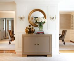 Chest in the entryway.   Jane Beiles Photography