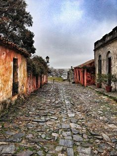 """Calle de los Suspiros"" by Caitlin McAllister. This is a street located in Colonia del Sacramento, Uruguay."