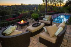 With that fire pit and those views, this the the ideal backyard. Santa Barbara, CA Coldwell Banker Residential Brokerage $2,639,000