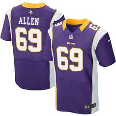 shop the official Vikings store for a Men's Nike Minnesota Vikings #69 Jared Allen Elite Team Color Purple Jersey in the latest styles available online and in stores. Size: S,M 40,L 44,XL 48,XXL 52,XXXL 56,XXXXL 60.Totally free shipping and returns. $129.99
