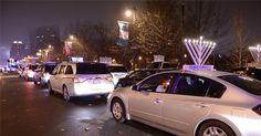 Thanksgiving Menorah Car Parade In Philadelphia
