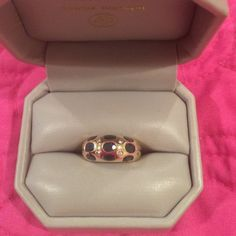 14kt Dome Ring with Sapphires and Diamonds Beautiful 14kt dome ring with genuine stones. Size 4.  I recently visited my safety deposit box.  This has been locked since my divorce.  I love the ring, but can't bring myself to wear it.  Free Posh Concierge service with this purchase.  No holds.  No trades Jewelry Rings