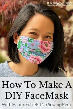 How to Make A DIY Face Mask with Handkerchiefs (No Sewing Required) - Bumblebee Linens The tutorial will provide you with step by step instructions on how to make a DIY face mask out of handkerchiefs with no sewing or cutting required. Easy Face Masks, Diy Face Mask, Making Faces, Diy Mask, Mask Making, Step By Step Instructions, Hair Ties, Tips, Handkerchiefs