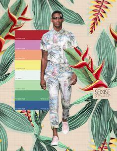 Estampas Exclusivas // Tropicals / Studio Sense Swag Boys, Fashion Design Portfolio, Tropical, Collage Art Mixed Media, Sketchbook Inspiration, Summer Patterns, Beach Shirts, Bold Prints, Color Trends