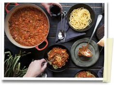 Slow-Cooker Bolognaise recipe by Annabel Langbein Here's a little taste of… Healthy Crockpot Recipes, Slow Cooker Recipes, Beef Recipes, Cooking Recipes, Crockpot Meals, Bolognaise Recipe, New Cookbooks, Slow Food, Nutritious Meals