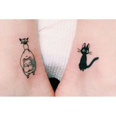 Studio ghibli spirited away/kiki's delivery service tattoo. Jiji. By Lauren Winzer