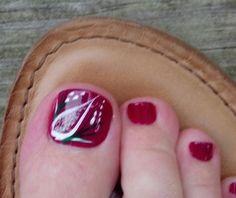 Magenta nail art