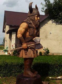 Viking carving by Alikas Kekys