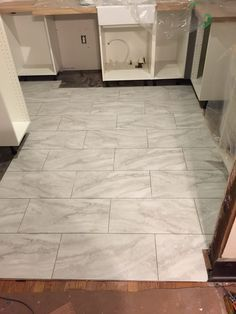 marble tile installation