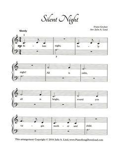 Silent Night, free printable Christmas piano sheet music.                                                                                                                                                                                 More