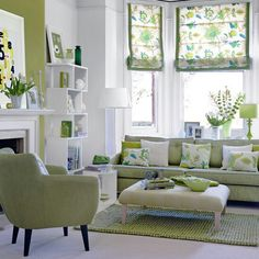 Fresh green lounge
