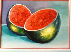 """""""Les pastèques"""" peinture à l'huile"""