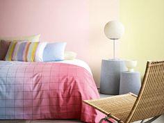 dormitorio con efecto degradado