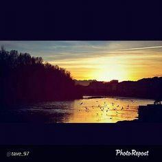 #Torino raccontata dai cittadini per #InTO Foto di tave_97 #murazzi #torino #po #sunset #river