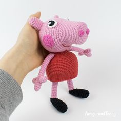 The free Peppa Pig crochet pattern will help you to create a famous cartoon character. The difficulty of amigurumi Peppa Pig crochet pattern is medium. Peppa Pig Crochet, Peppa Pig Doll, Crochet Dolls, Crochet Amigurumi Free Patterns, Crochet Patterns For Beginners, Free Crochet, Yarn Tail, Crochet For Kids, Crochet Projects