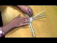 ▶ Návod na tvorbu košíčku z papírového pedigu - YouTube