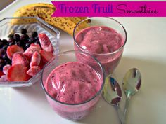 Here's a quick refreshing Frozen Fruit Smoothie recipe I got from The Rookie Cook. It's delicious and very soothing. Click the link below for the recipe: Frozen Fruit Frozen Fruit Smoothie, Fruit Smoothie Recipes, Yummy Smoothies, Smoothie Drinks, Fruit Recipes, Yummy Drinks, Healthy Drinks, Healthy Eating, Healthy Recipes