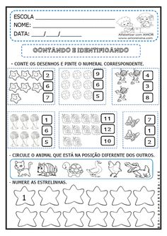 ATIVIDADES  DE MATEMÁTICA 2º ANO   TODAS AS ATIVIDADES AQUI POSTADAS, TAMBÉM PEGUEI DE OUTRAS PROFESSORAS E ESTOU COLABORANDO COLOCANDO DE ... Fall Preschool Activities, Printable Preschool Worksheets, Tracing Worksheets, Montessori Activities, Preschool Math, Infant Activities, Worksheet For Nursery Class, Jean Piaget, File Folder Activities